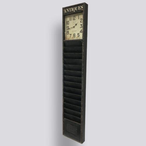 Decoratieve staande klok met tijdschrifthouder of tijdschriftenrek