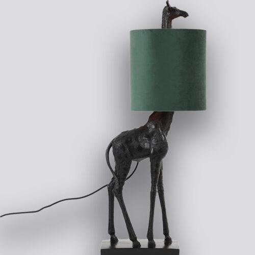Giraffe lamp velvet