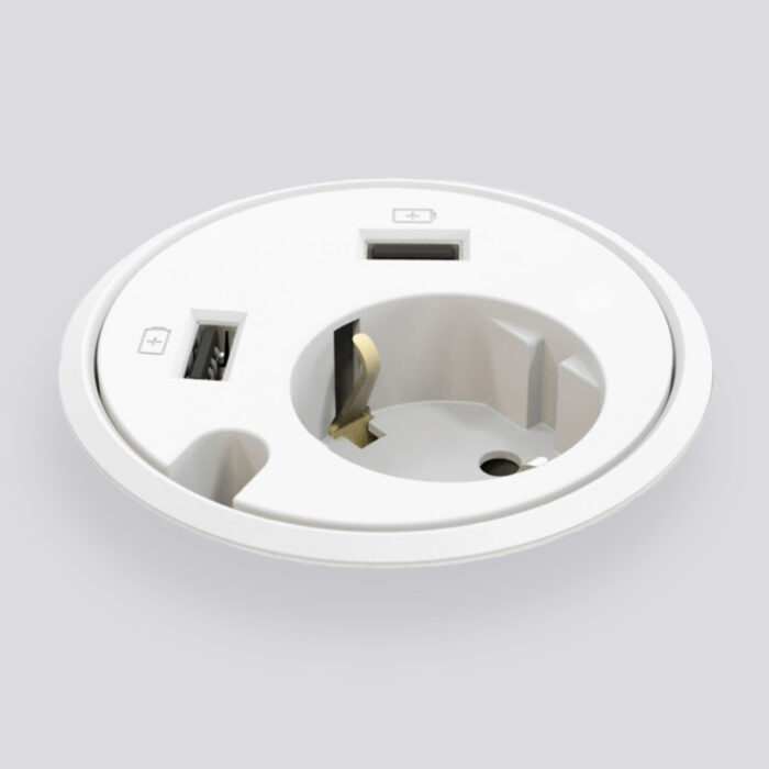 De Powerdot een compacte stroomvoorziening in je bureau
