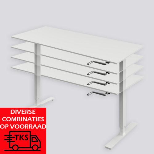 Zit sta bureau Pendulum2 is een arbo bureau. met de zwengel kan het bureau omhoog of omlaag worden versteld.