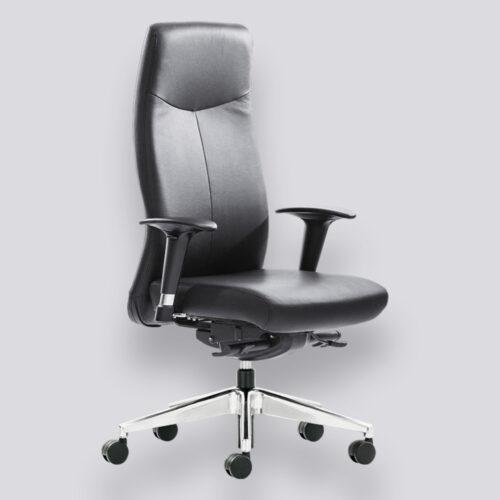 KingLux3 leder bureaustoel