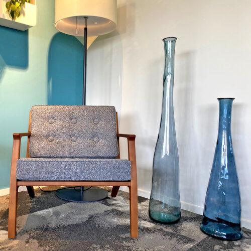Blauwe flessen - groot - decoratief